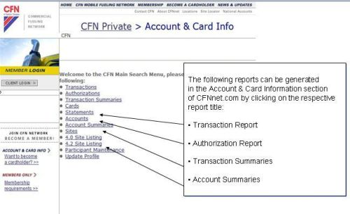 cfnnet CFNnet Reports